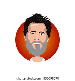 Portrait of Jim Carrey icon
