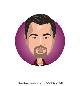 Portrait of Leonardo DiCaprio icon