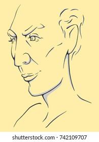 Portrait of a Man / Vector Illustration