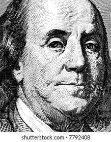 Portrait of the president Franklin