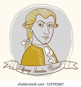 Portrait Of Wolfgang Amadeus Mozart.