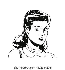 portrait woman comic image