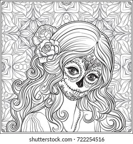 Skull Coloring Page Images, Stock Photos & Vectors | Shutterstock