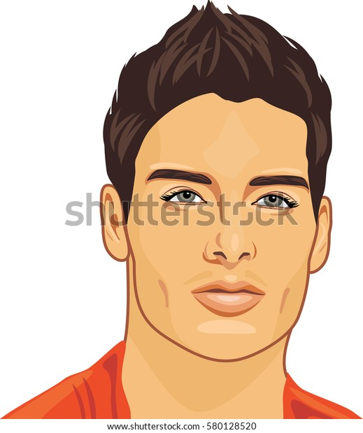 portrait-young-beautiful-man-vector-600w