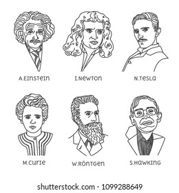 Portraits of famous physicists