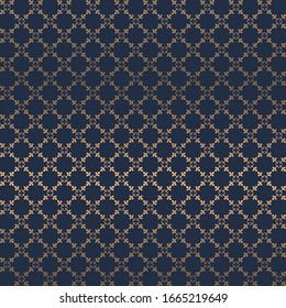 Portugal azulejos tile seamless patterns. gold and blue ornament Luxury tile. Graphic modern pattern, Zellige tile seamless vector background