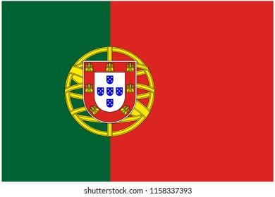 portugal flag vector illustration