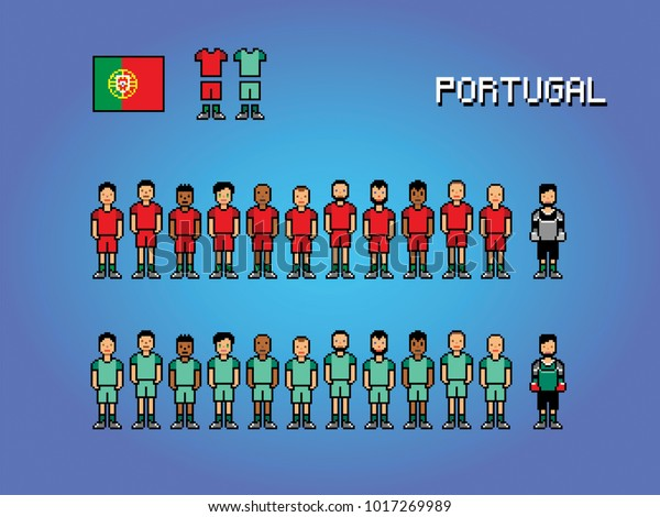 Portugal Football Team Soccer Player Uniform Stock Image