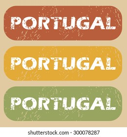 Portugal on colored background