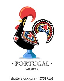 Portugal rooster cock symbol