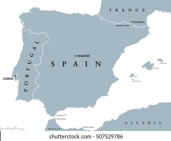 Detailed Map Of Spain In English.Map Of Spain Images Stock Photos Vectors Shutterstock