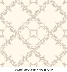 Portuguese tiles, Quatrefoil vector pattern. Tangled modern pattern, based on traditional oriental arabic patterns - arabesque. Seamless vector background. Moroccan, Turkish, Lisbon floor tiles.