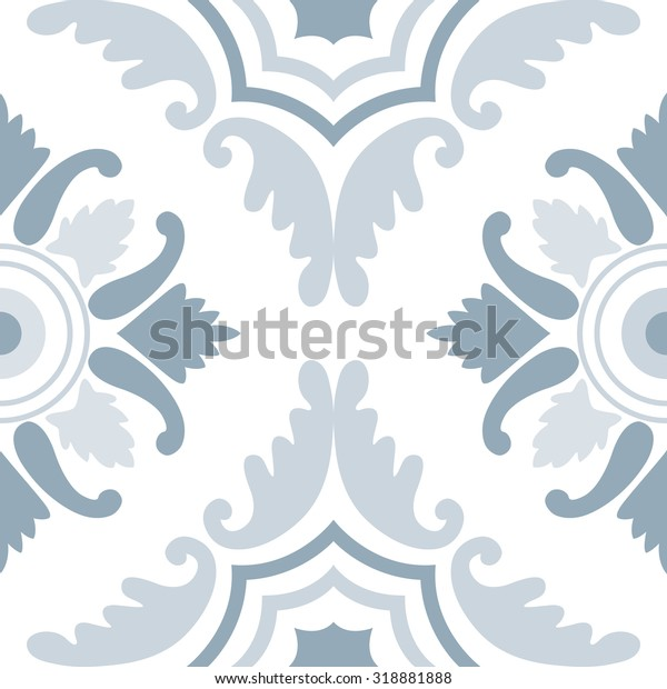 Portuguese Tiles Seamless Pattern Vintage Background Stock ...