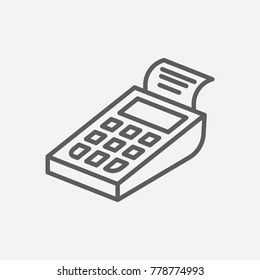 Pos terminal icon line symbol. Isolated vector illustration of cashless sign concept for your web site mobile app logo UI design.