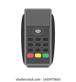 POS Terminal on a white background. Vector illustration.