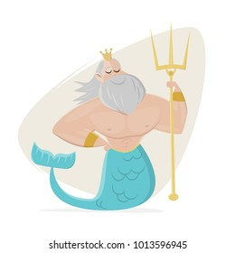 poseidon clipart neptune cartoon