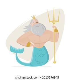 poseidon clipart neptune cartoon