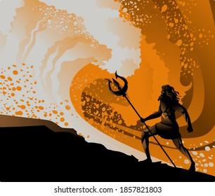 poseidon neptune greek mythology sea god near a wave