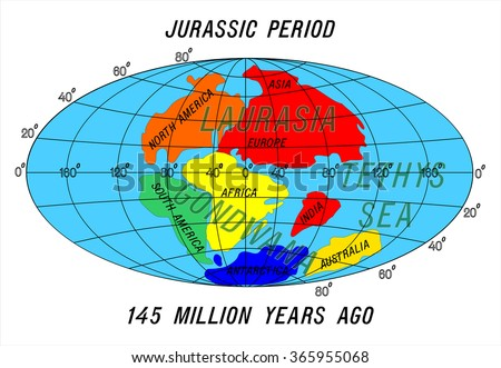 Position continents jurassic period stock vector royalty free position continents jurassic period gumiabroncs Choice Image