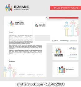 Positions Business Letterhead, Envelope and visiting Card Design vector template