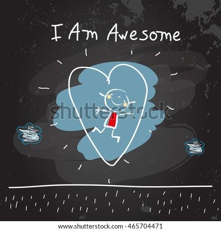 Citaten Scribbr Scribblen : Positive affirmations kids motivational inspirational concept stock