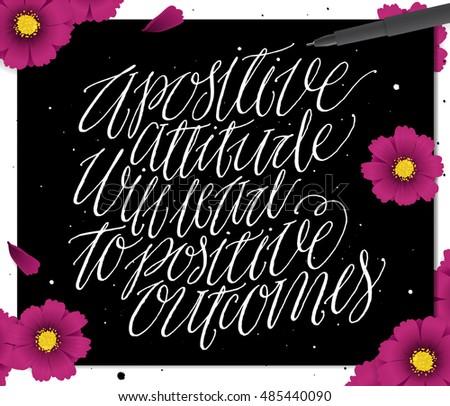 Positive Attitude Will Lead Positive Outcomes Stock Vector Royalty