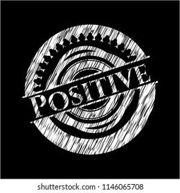 Positive chalkboard emblem