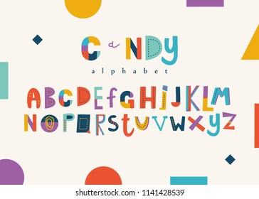 Positive colorful alphabet for kids.