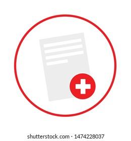 positive file icon. flat illustration of positive file vector icon. positive file sign symbol