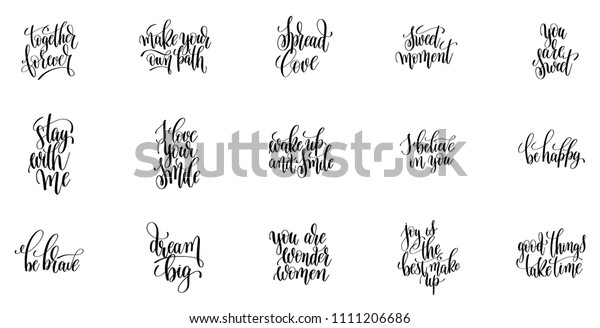 Positive Quotes Positive Quotes Day Short Stock Vector ...
