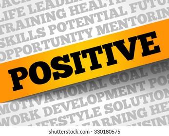 Positive word cloud, business concept