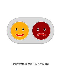 positive-and-negative icon - positive-and-negative isolate, sad-and-happy illustration - Vector emoji