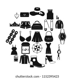 Possessions icons set. Simple set of 25 possessions vector icons for web isolated on white background