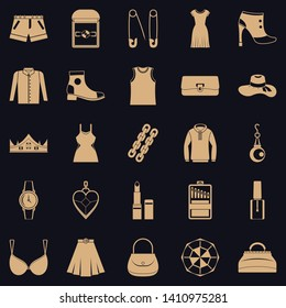Possessions icons set. Simple set of 25 possessions vector icons for web for any design