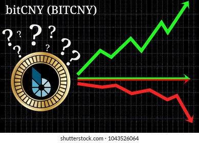 Possible graphs of forecast Bitcny (BITCHY) cryptocurrency - up, down or horizontally. Bitcny (BITCHY) chart.