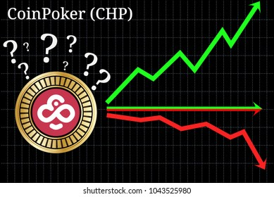 Possible graphs of forecast CoinPoker (CHP) cryptocurrency - up, down or horizontally. CoinPoker (CHP) chart.