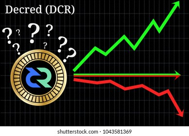 Possible graphs of forecast Decred (DCR) cryptocurrency - up, down or horizontally. Decred (DCR) chart.