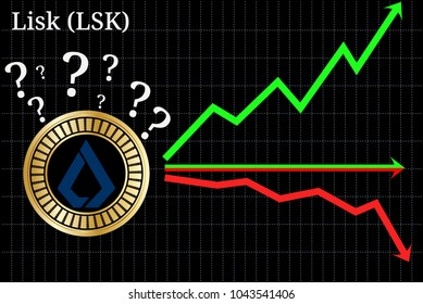Possible graphs of forecast Lisk (LSK) cryptocurrency - up, down or horizontally. Lisk (LSK) chart.