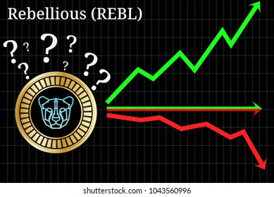Possible graphs of forecast Rebellious (REBL) cryptocurrency - up, down or horizontally. Rebellious (REBL) chart.