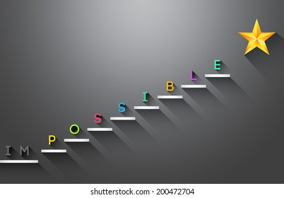 Possible stair steps to success Business concept
