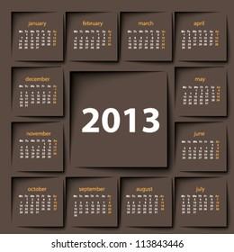 post it 2013 calendar