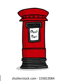 post box / cartoon vector and illustration, isolated on white background.