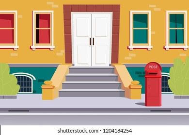 Post box in front of house
