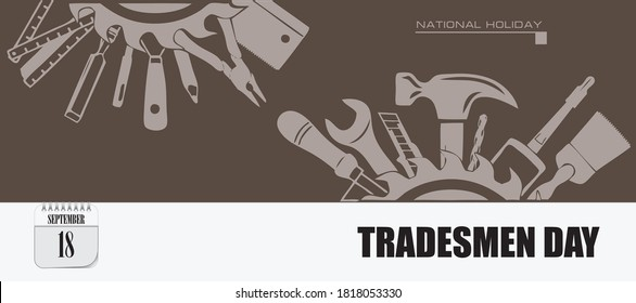 Post card for event September day Tradesmen Day