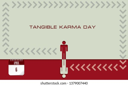 Post card Tangible Karma Day. Feedback karmic interaction to the date of April 6