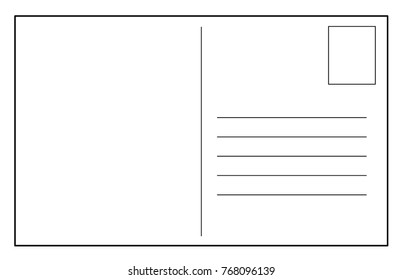 Post card vector template