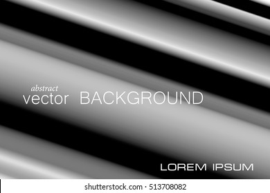 Post modern black and white background. Soft tone stripes of grayscale lies above deep black backdrop. Vector EPS10