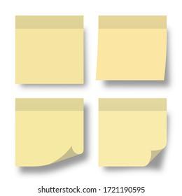 post note paper memo list pin vector illustration