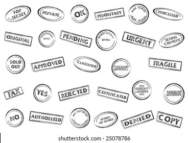 Post or office marks isolated over white background