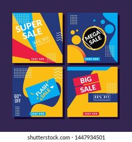 Post social media template. Modern promotion square web banner for social media. modern banner designs.